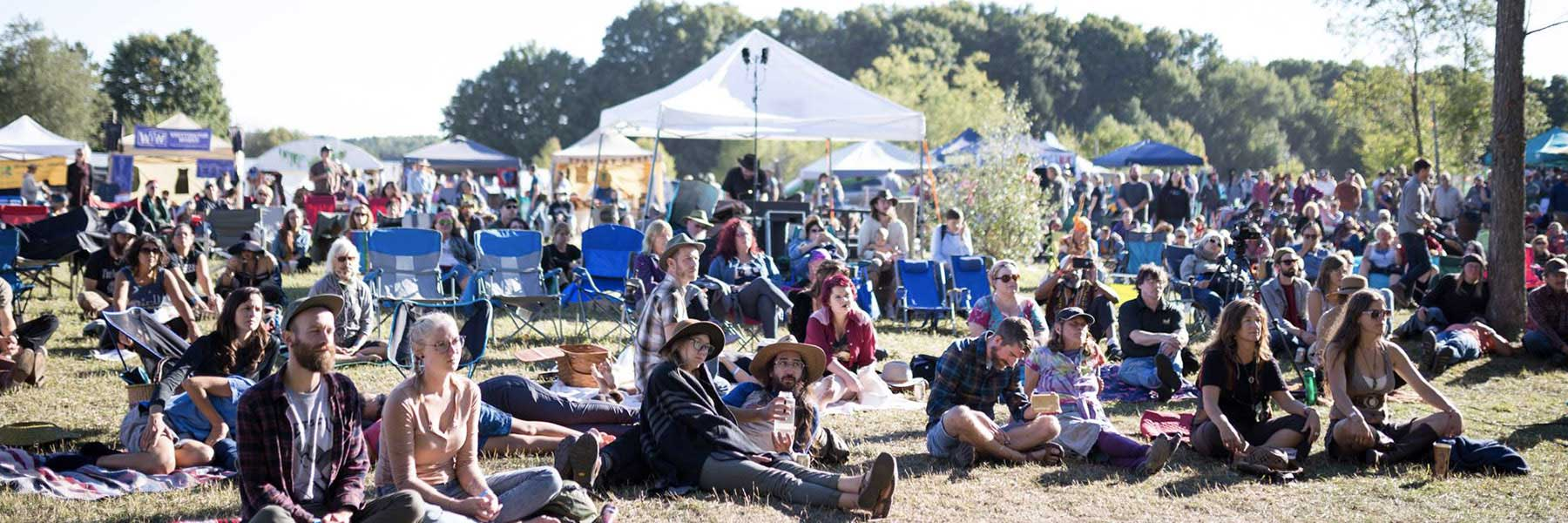 Earthwork Harvest Gathering Crowd