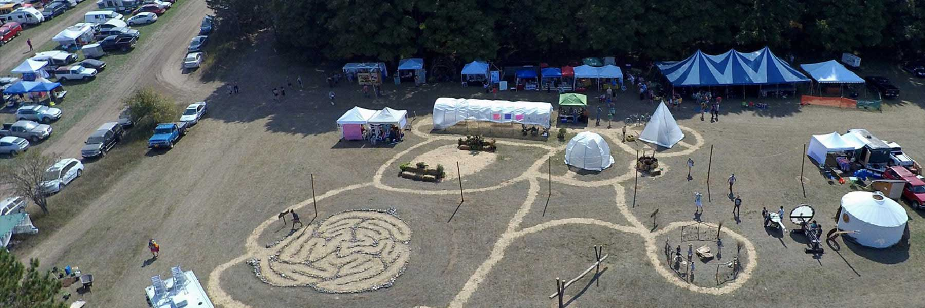 Earthwork Harvest Gathering Labyrinth